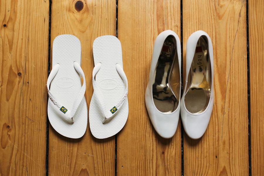 Brautschuhe und Pantoffeln