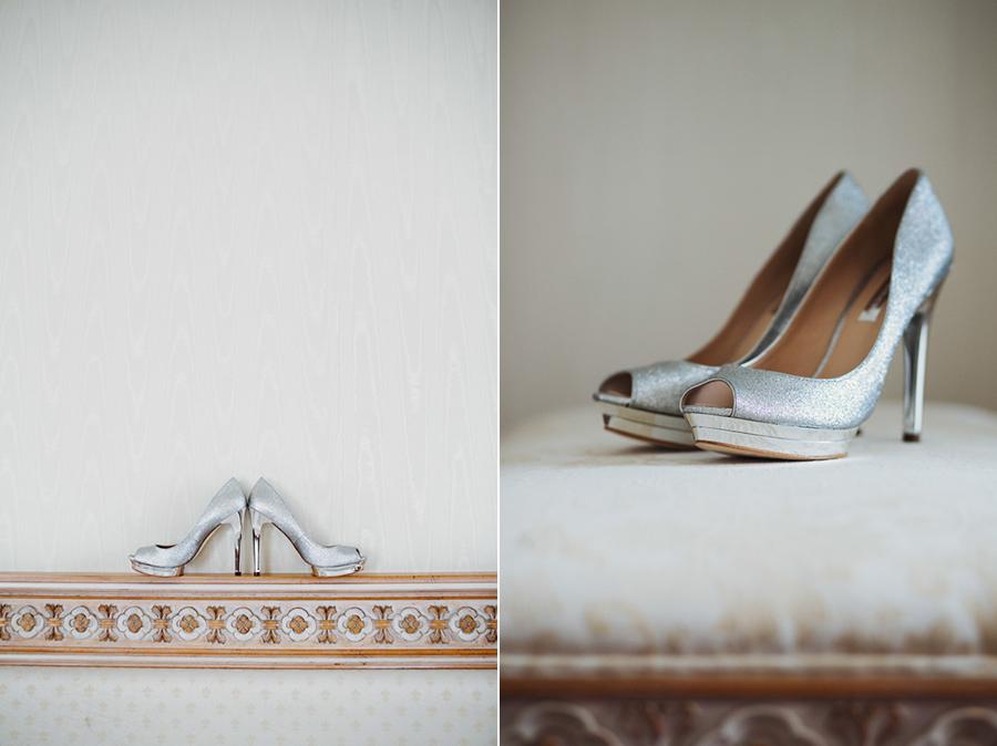Brautschuhe auf persischer Hochzeit