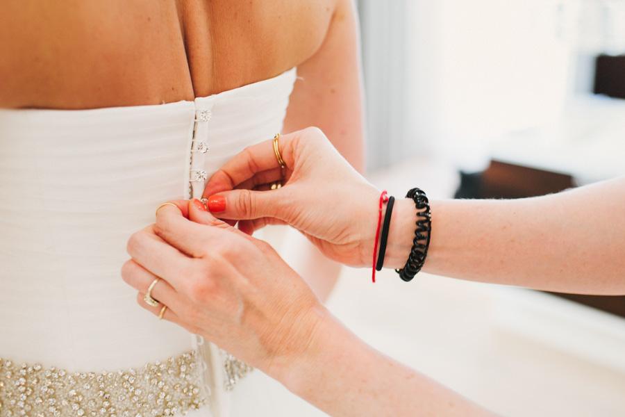 Brautkleid Getting Ready