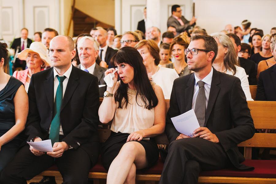 Hochzeitsgäste Emotionen