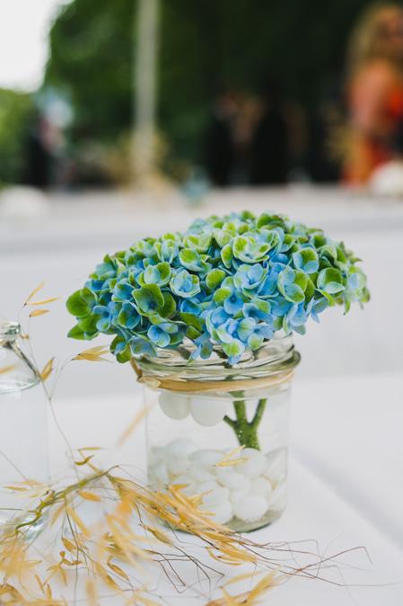 Hochzeits Tischdeko Hortensien