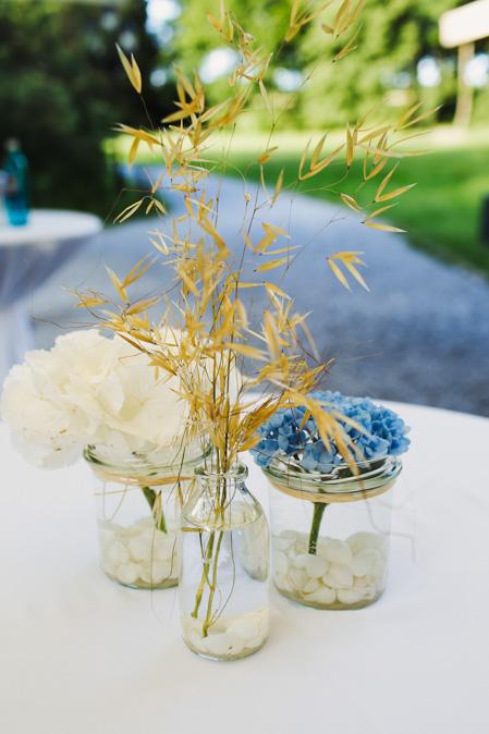 Hochzeit Tischdeko Hortensien