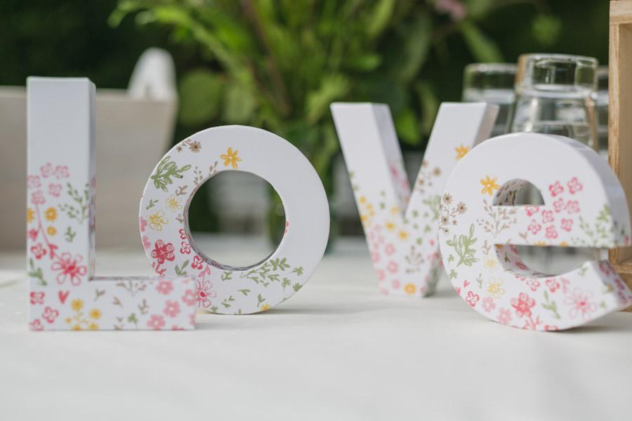 Hochzeit Dekoration Love
