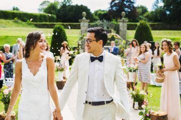 Hochzeit Trauung Auszug