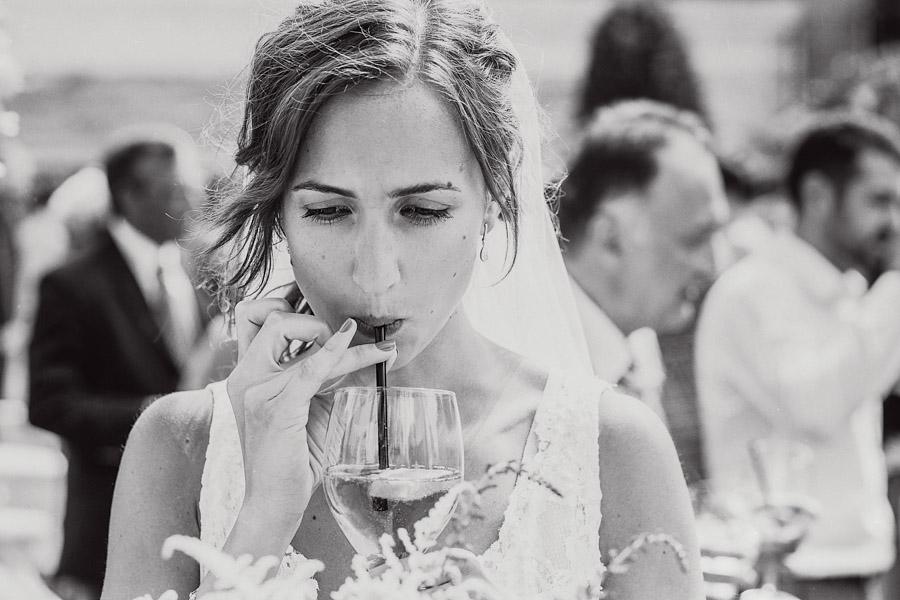 Hochzeit Braut Sekt
