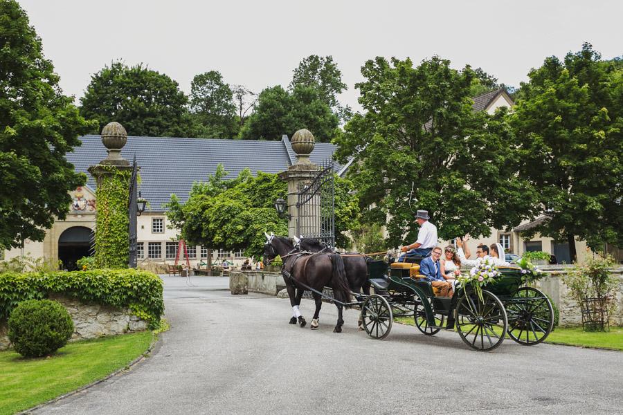Hochzeit Schloss Kutsche