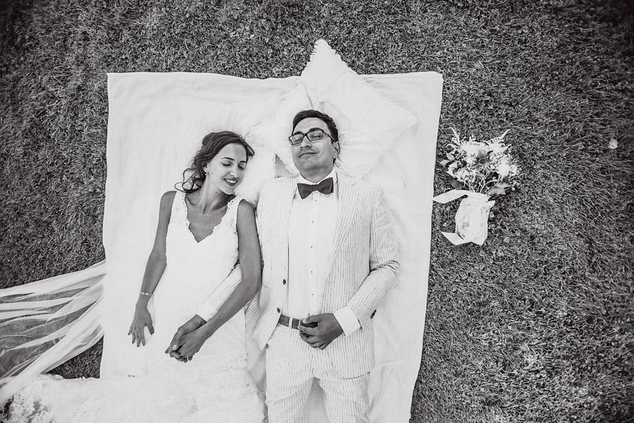 Hochzeit Decke Brautpaarshooting