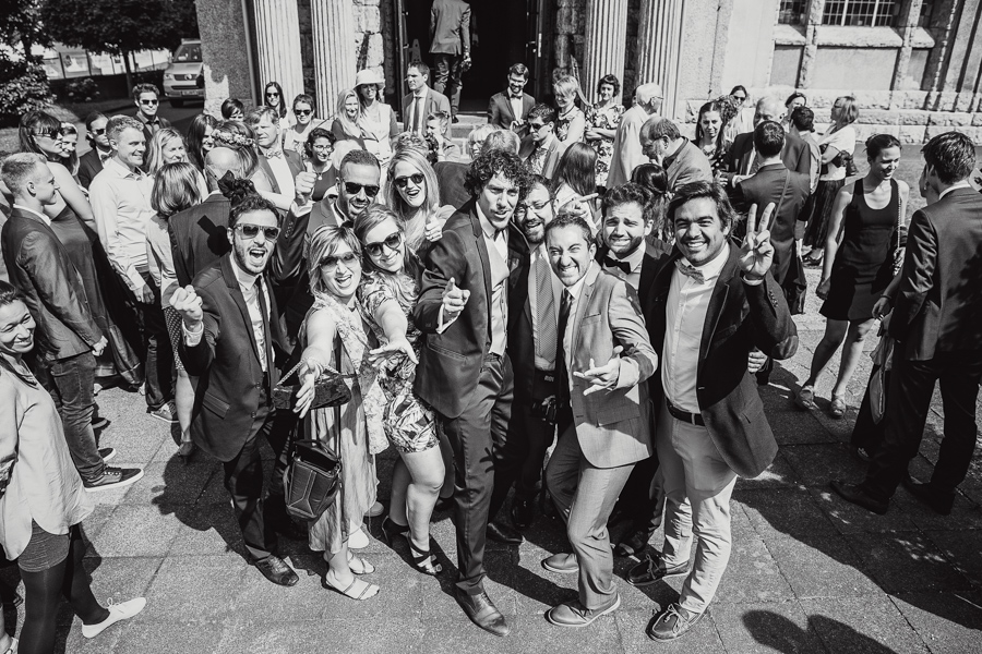 Hochzeit Bräutigam Gruppenfoto