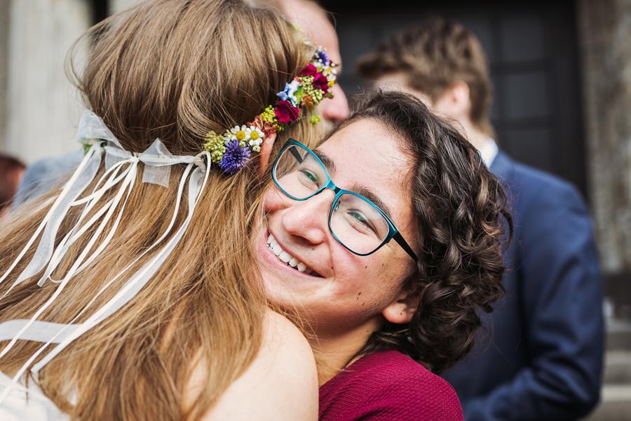 Braut Gratulation Blumenkrank