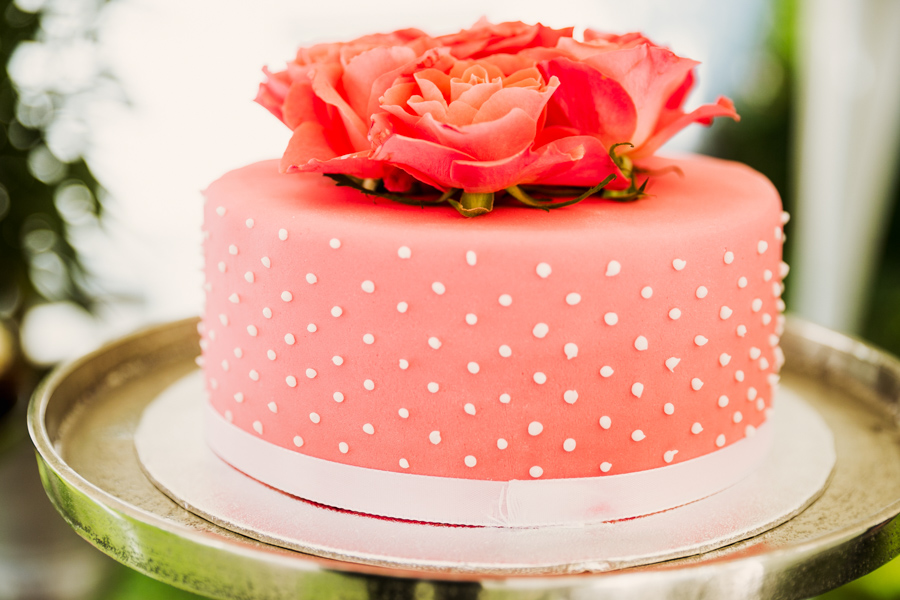 Hochzeitstorte pink Rosen