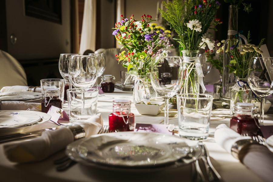 Hochzeit Tischdekoration Landhausstil