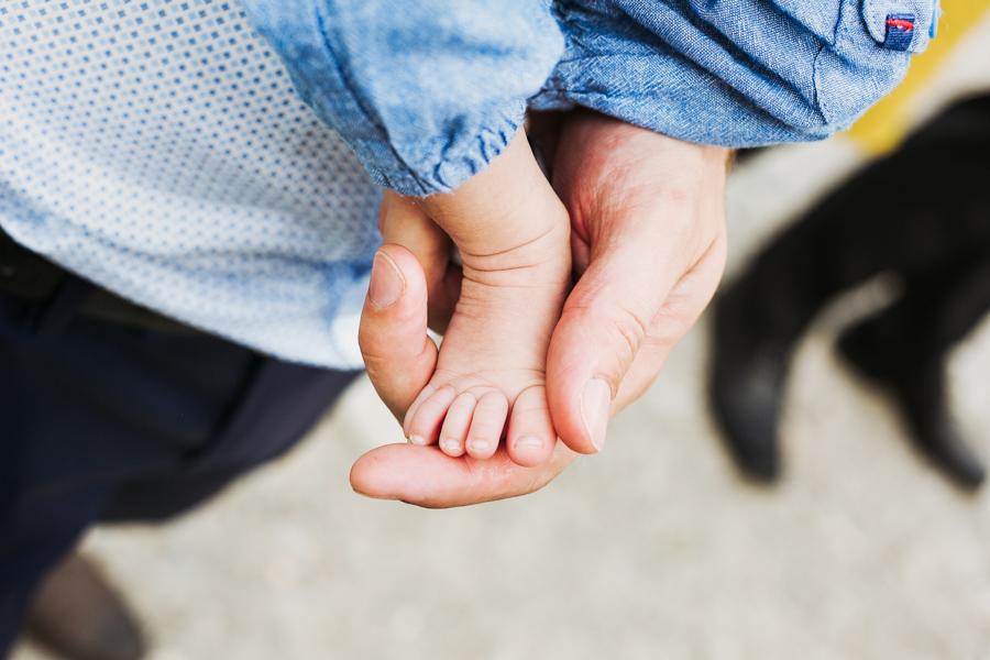 Baby Füße Hand