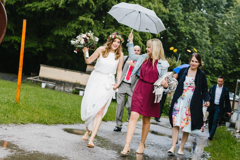 Braut Regenschirm