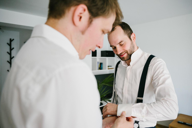 Bräutigam Vorbereitungen
