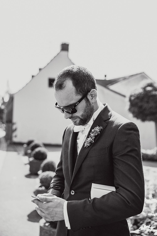 Bräutigam Hochzeitsreportage
