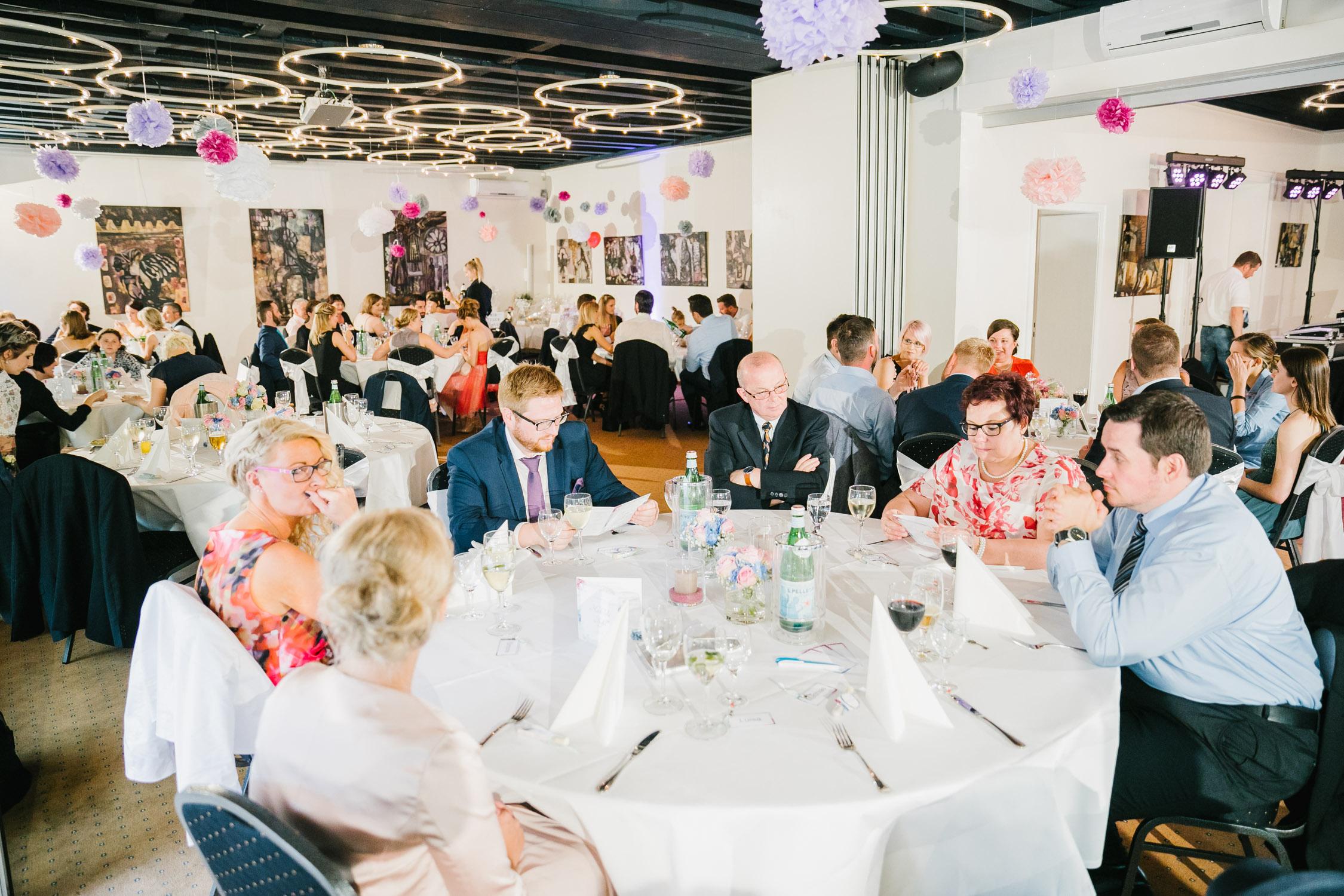 Tische der Hochzeitslocation