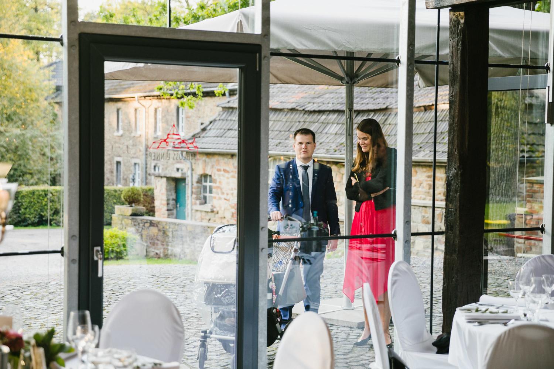 Terrasse der Hochzeitslocation