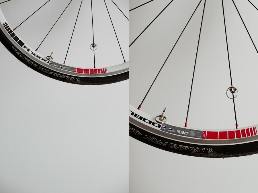 Fahrrad und Hochzeitsringe