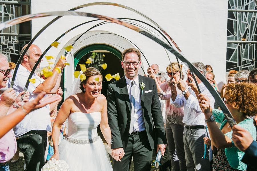 Brautpaar Auszug Spalier