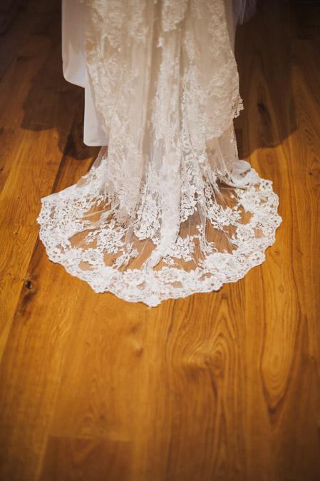 Hochzeit Brautkleid Schleppe