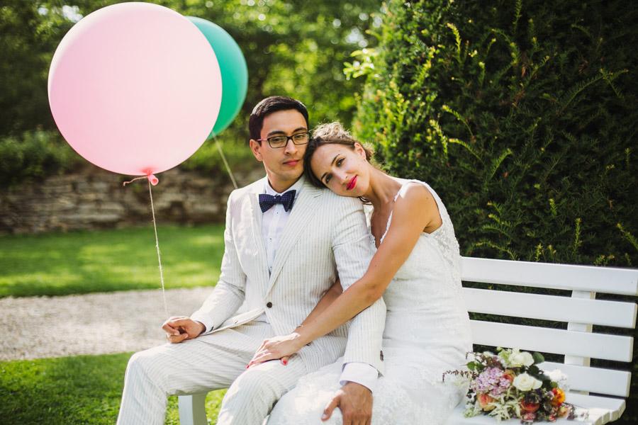 Hochzeit Luftballons Brautpaarshooting