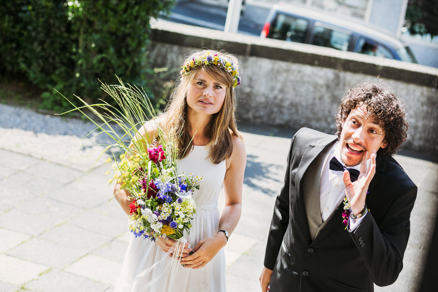 Braut Bräutigam Brautstrauß