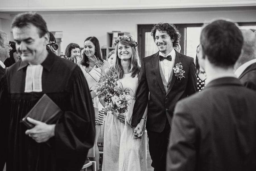 Braut Bräutigam Einzug
