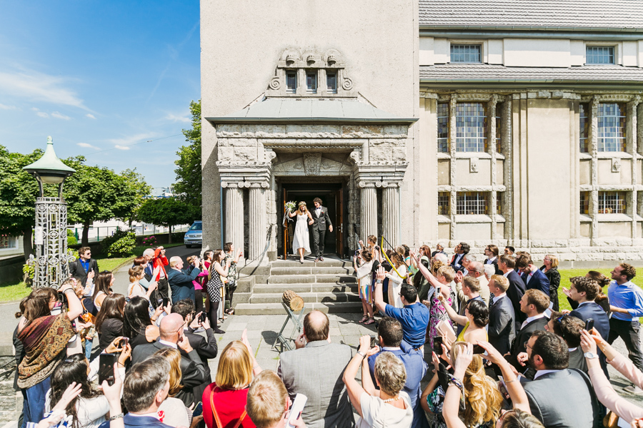 Hochzeit Brautpaar Auszug