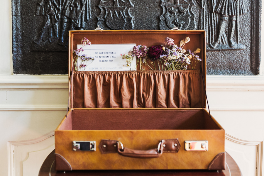 Hochzeit Koffer Karten