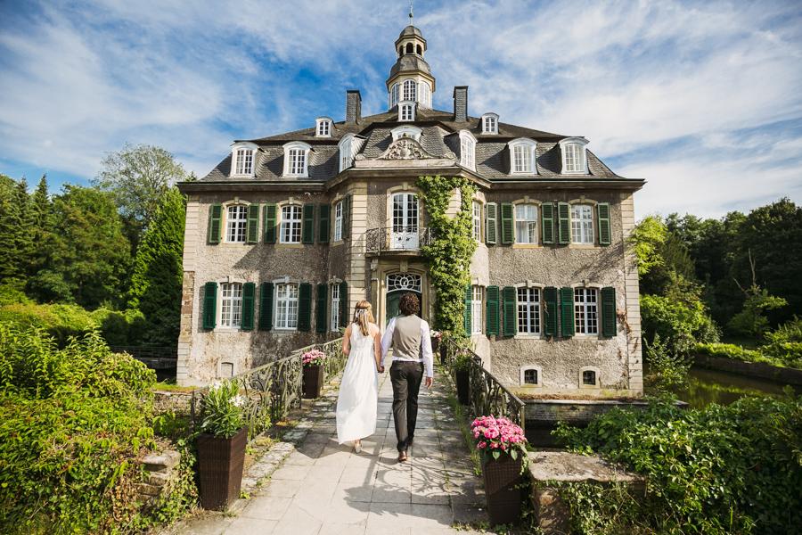 Brautpaar Hochzeitsshooting Schloss