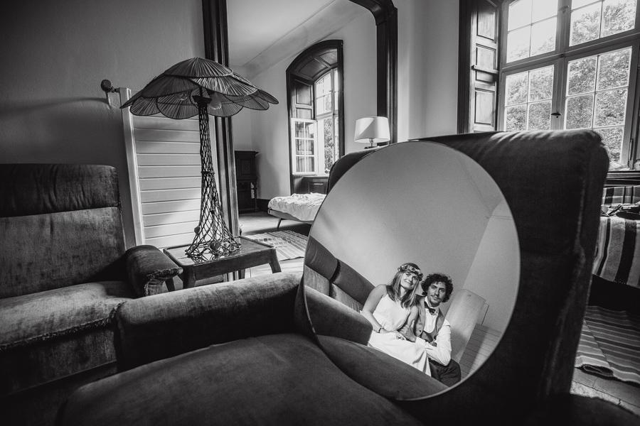 Brautpaar Hochzeitsshooting Spiegel