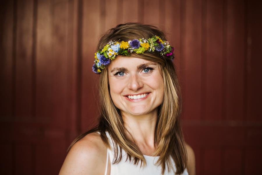 Hochzeitsshooting Braut Blumenkranz