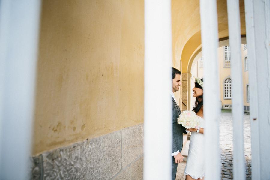 Schloss Hochzeit Brautpaar