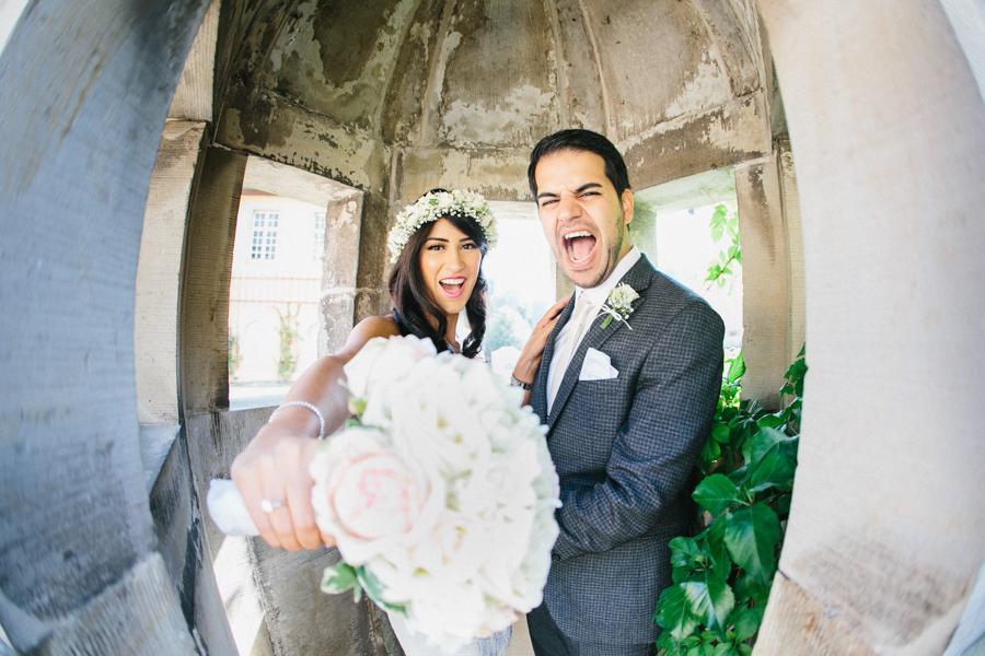 Hochzeit Brautpaar Brautstrauß