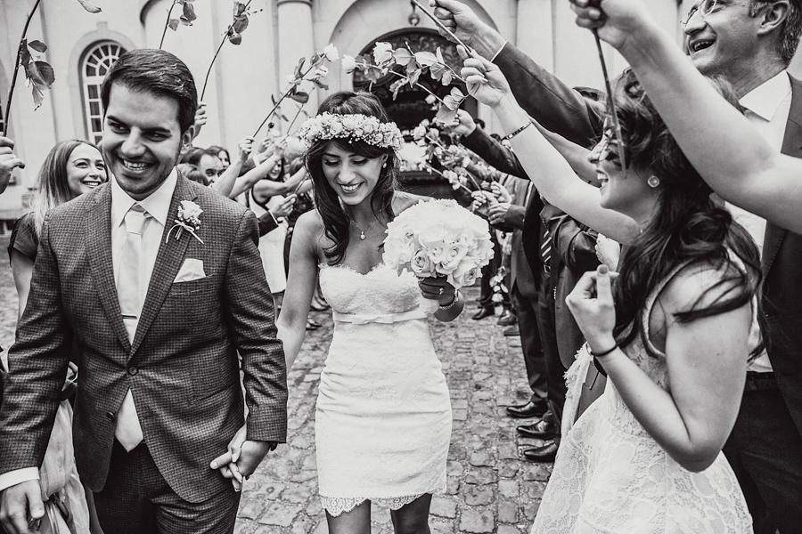 Hochzeit Brautpaar Spalier