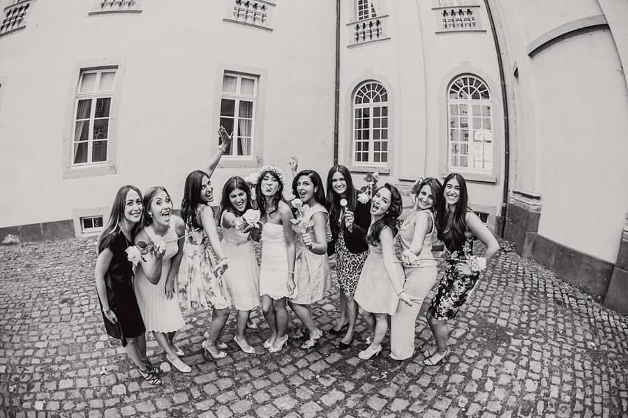 Hochzeit Braut Trauzeuginnen