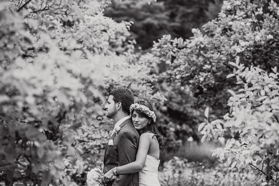 Hochzeit Brautpaarshooting Natur