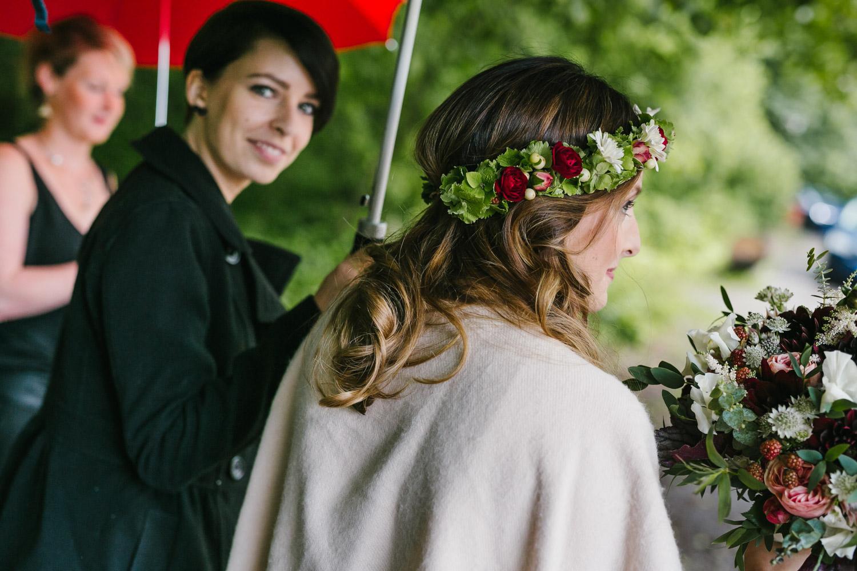 Braut Blumenkranz