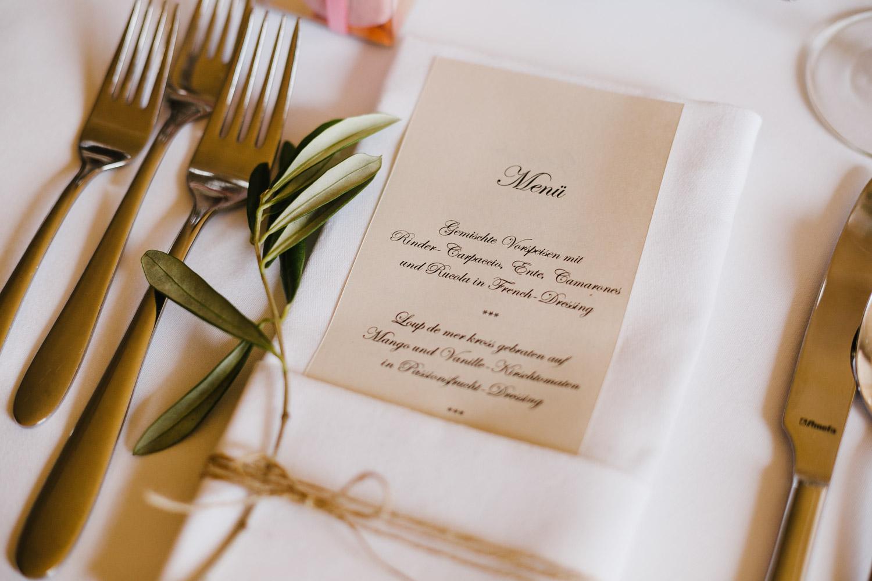 Hochzeit Menü