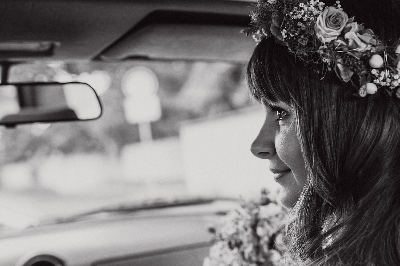Brautpaarshooting Auto