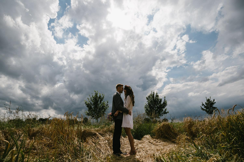 Brautpaarshooting Feld