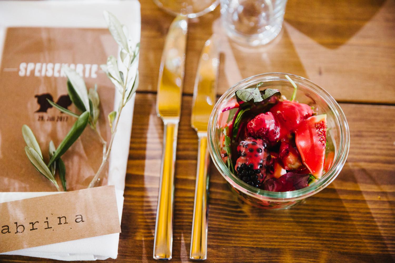 Fruchtiges Essen Hochzeit