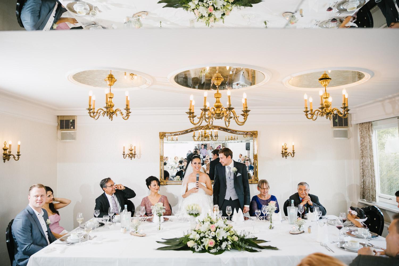 Blick auf den Brauttisch