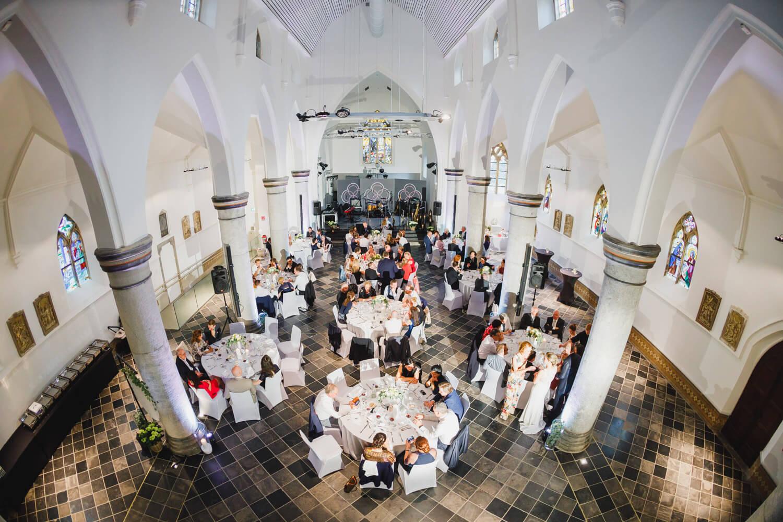 Totale Hochzeitsfeier